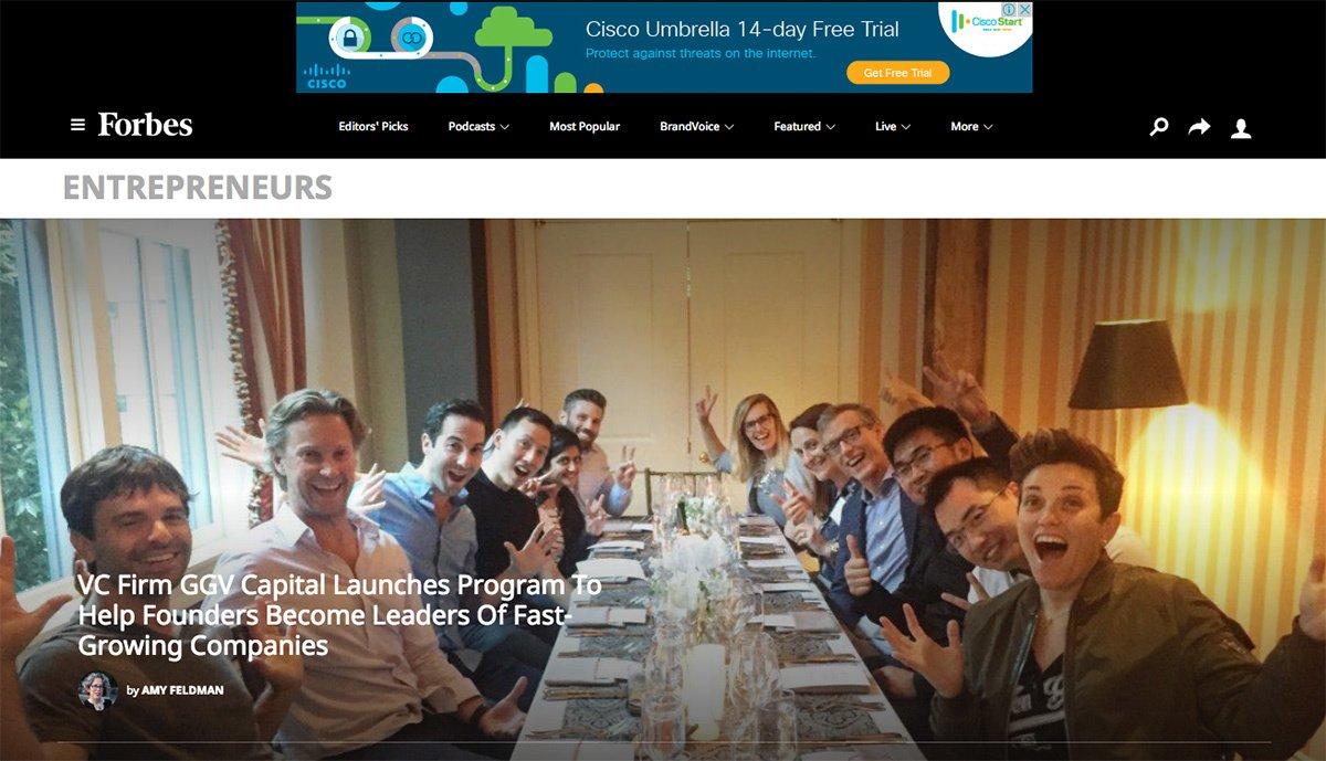 The Forbes Entrepreneur blog.