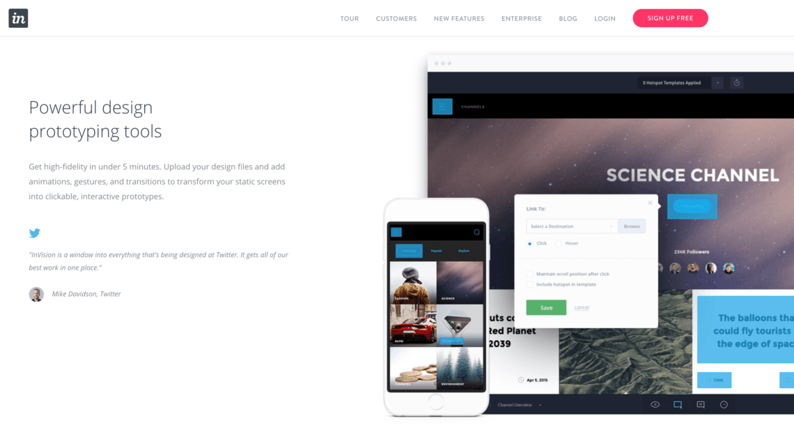 The InVision website.