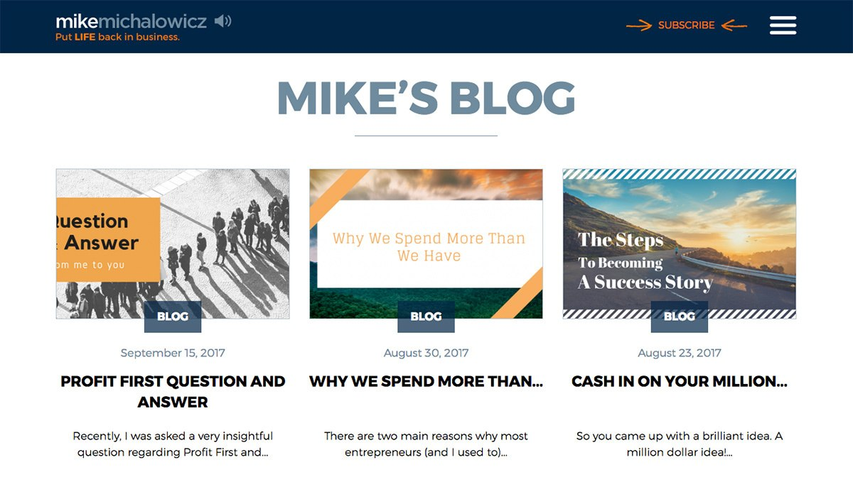 Mike Michalowicz's blog