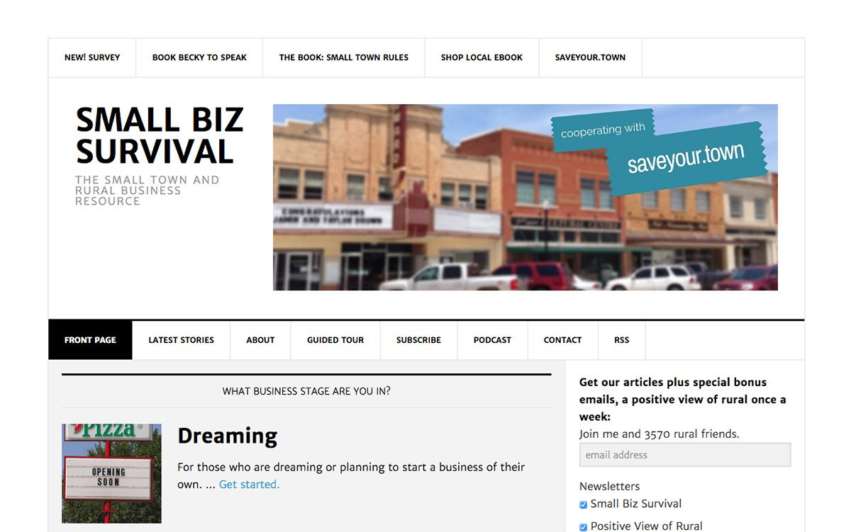 The Small Biz Survival blog