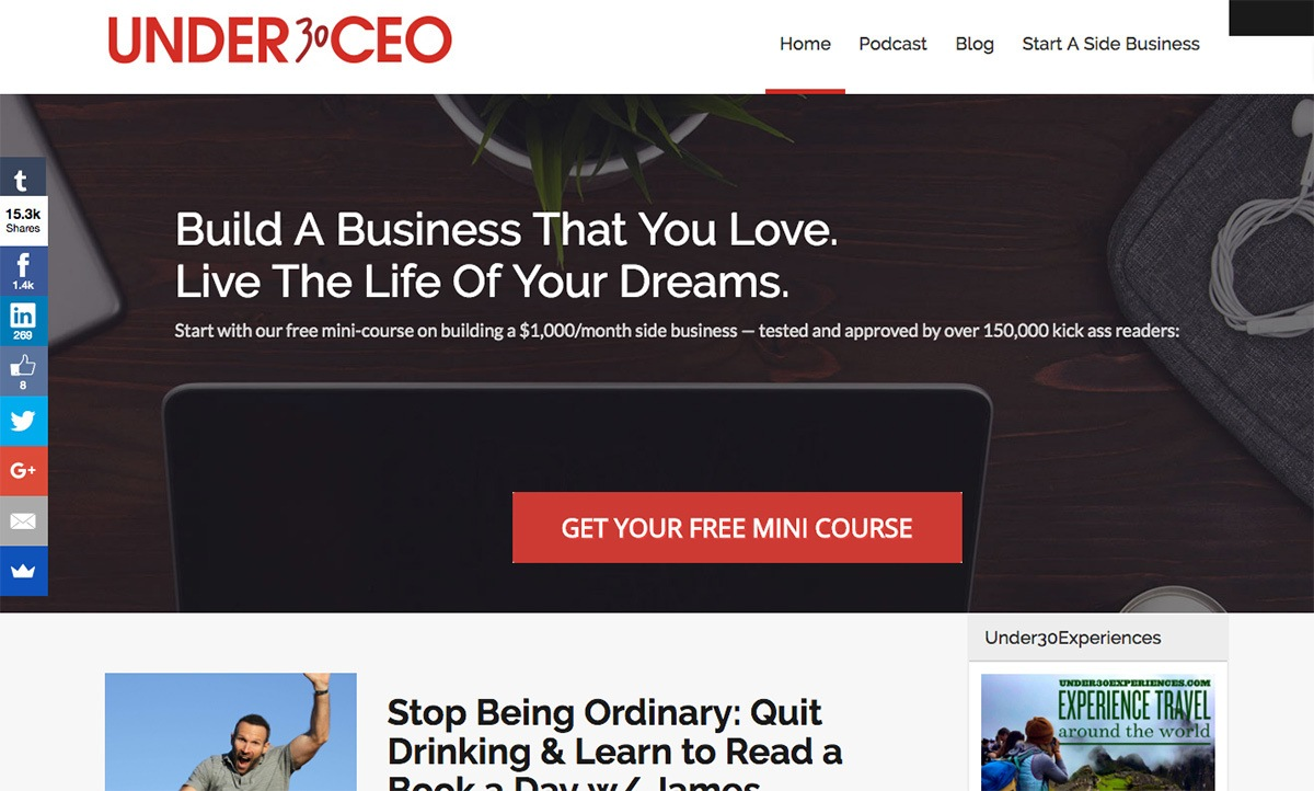 The Under 30 CEO blog