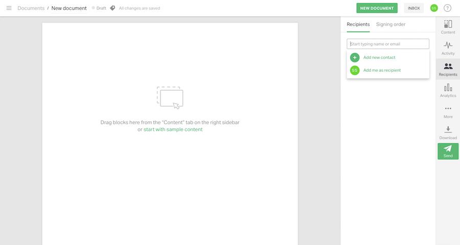 PandaDoc document management tool