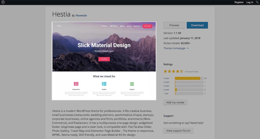WordPress Theme Evaluation-design