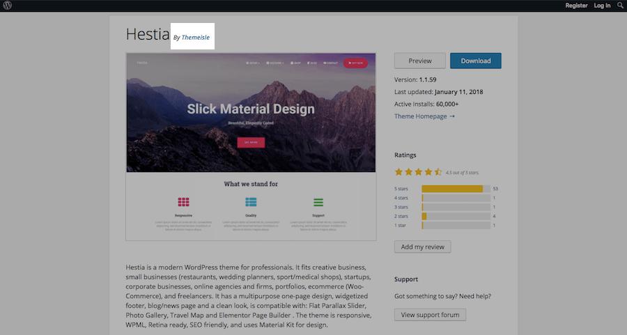 WordPress Theme Evaluation-developer
