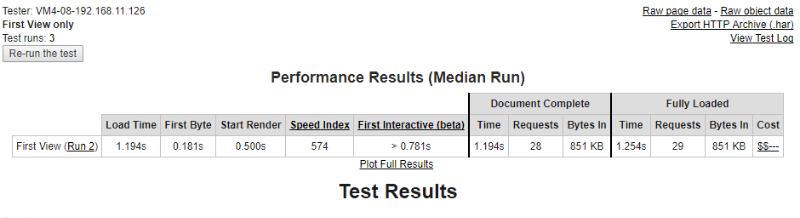 elementor webpage test data