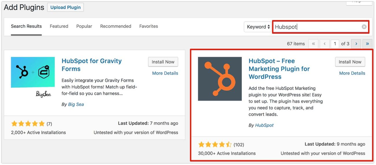 HubSpot WordPress Plugin
