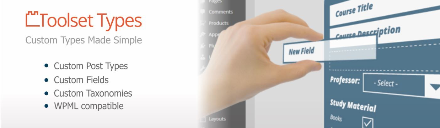 Toolset Types Plugin Header Image