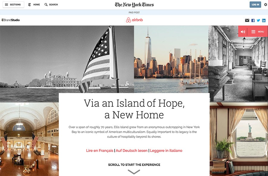 Airbnb and The New York Times