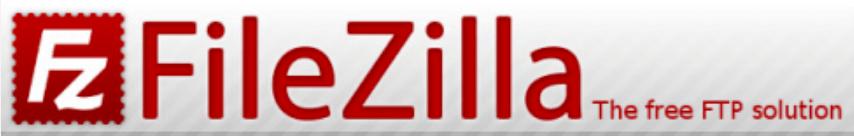The FileZilla website header.