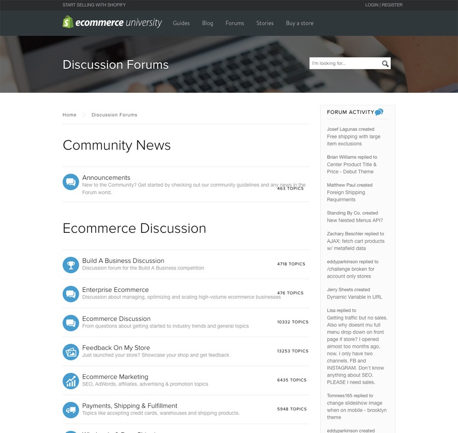 Shopify's eCommerce university