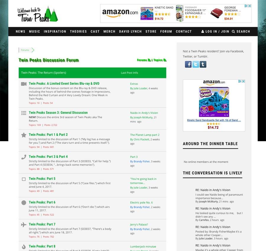 Twin peaks fan site